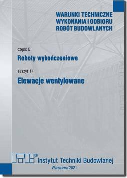 Czesc B Roboty Wykonczeniowe Zeszyt 14 Elewacje Wentylowane
